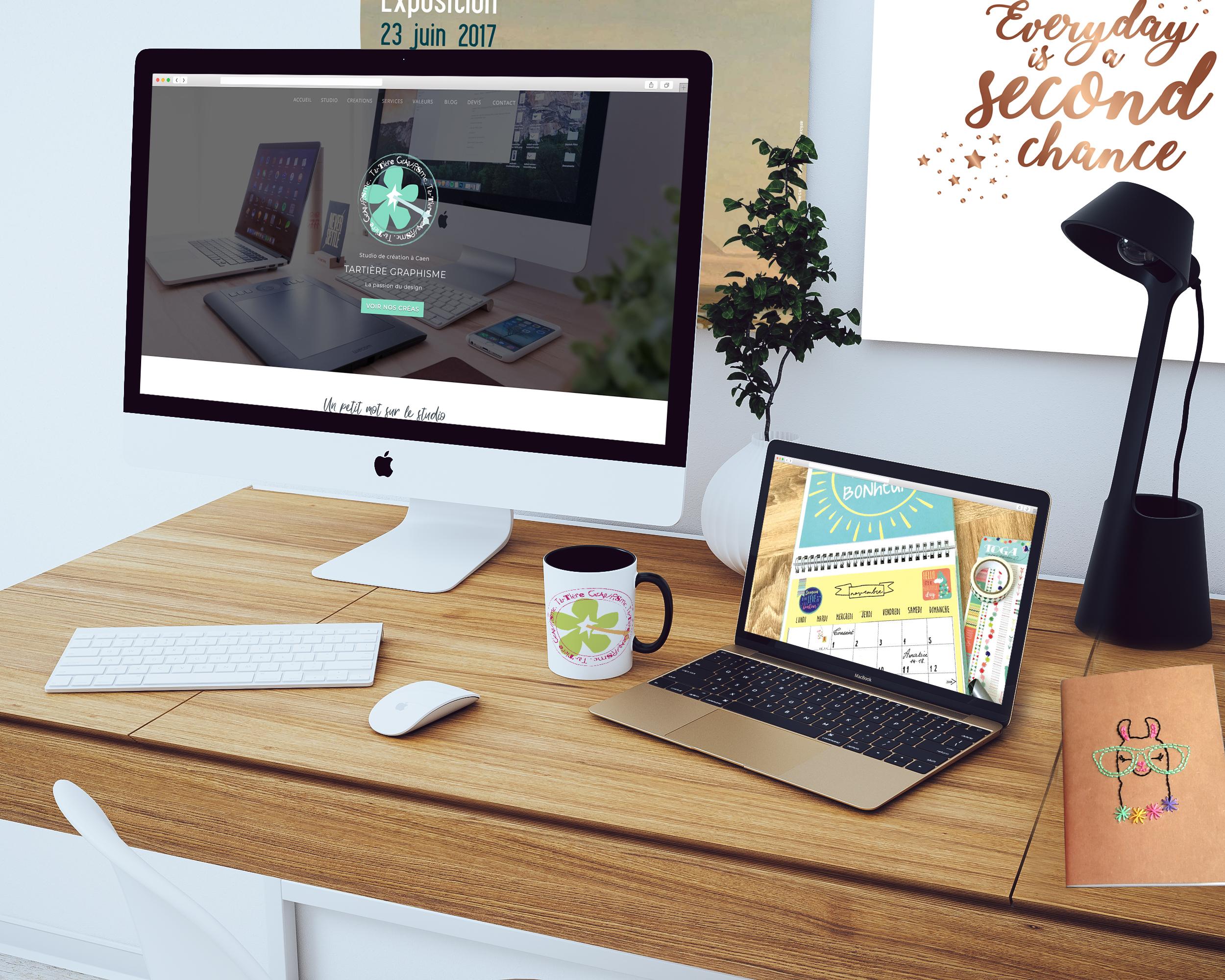 Visuel mockup web et print